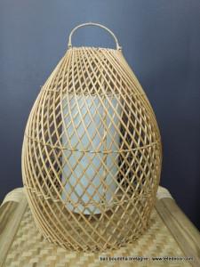 Abat-jour rotin lanterne H45cm