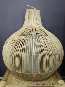 Grand abat-jour rotin H60cm