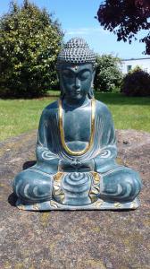 Statuette bleu doré Bouddha 30cm