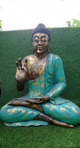 Bouddha doré et vert H90cm