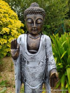 Bouddha debout bleu artic 80cm