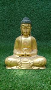 Statuette Bouddha résine doré H30cm