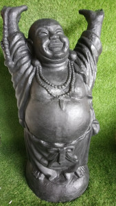 Happy Bouddha noir 100 cm