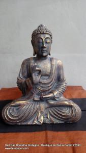 Bouddha protection antique H20 cm