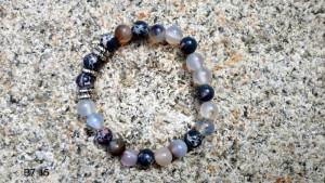 Bracelet pierres grise & marbré