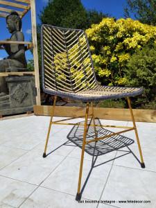 Chaise rotin design 90cm