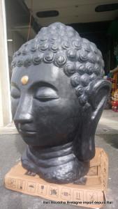 Tête bouddha noir H110 cm
