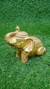 Eléphant doré 10 cm