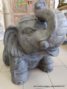 Grande taille éléphant gris déco jardin