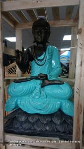 Grand Bouddha H100 cm bleu azur