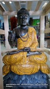 Grand Bouddha jaune antique H100 cm