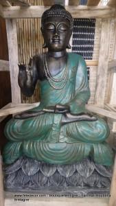 Bouddha vert antique H100 cm