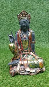 Statuette Vishnu assis main levée