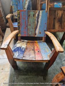 Chaise relax extérieur bois bateaux