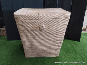 Panier rectangle fibres végétales 50cm