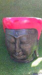 Large cache-pot fushia visage bouddha diam 41cm