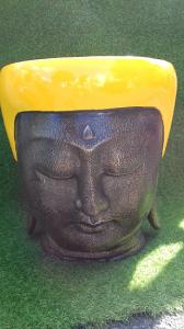Grand cache-pot visage bouddha diam 41cm