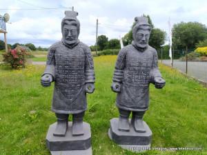 Couple samourai debout 100cm
