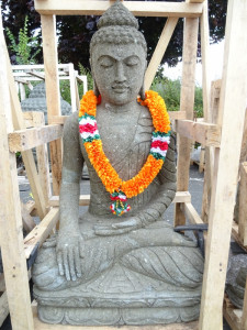 Bouddha pierre volcanique 100cm