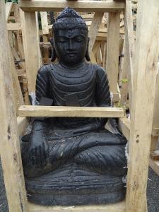 Statue noire Bouddha 75 cm