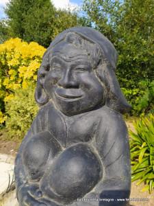 Statue troll heureux 65cm