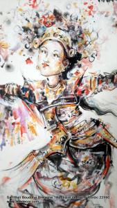 Peinture legong danse balinaise