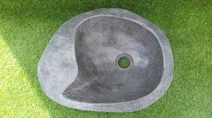 Vasque salle de bain pierre lisse L44 cm