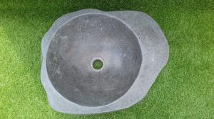 Vasque salle de bain en pierre lisse L46 cm