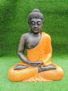 Bouddha orange 60 cm