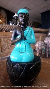 Bouddha turquoise laqué