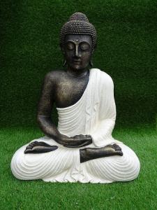 Bouddha blanc H60cm