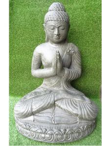 Bouddha prière gris kaki 85 cm