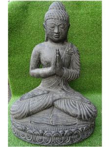 Bouddha prière noir 85 cm