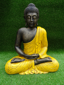 Bouddha jaune 60 cm