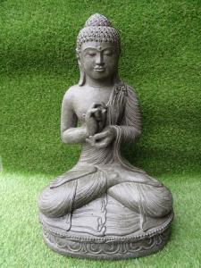 Bouddha méditation gris 60 cm