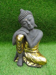 Bouddha penseur ciment 30 cm