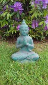 Statuette Bouddha vert doré