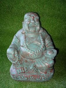 Bouddha rieur vert-bronze