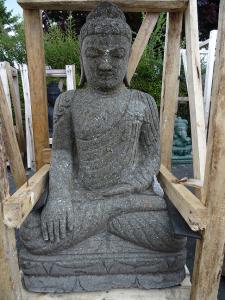 Bouddha en pierre 80 cm