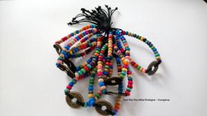 Bracelet Feng-Shui perle arc-en-ciel