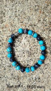 Bracelet pierres turquoise