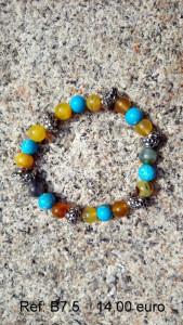 Bracelet pierre couleur et turquoise