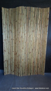 Grand brise vue rouleau bambou flexible