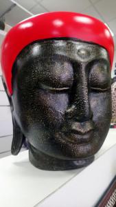 Cache-pot tête de Bouddha