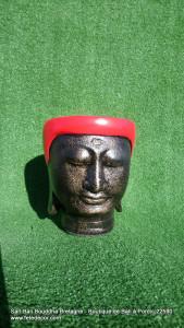 Petit cache-pot Bouddha rouge