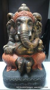 Ganesh H50 cm orange doré