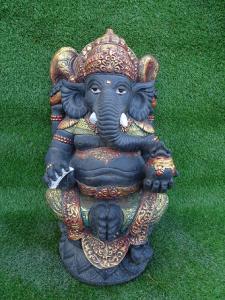 Ganesh yeux statue ciment H60cm