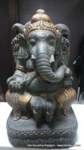 Ganesh noir antique et doré