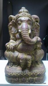Ganesh résine marron H50cm