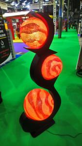 Luminaire noir 3 boules